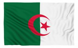 Flag of Algeria. Isolated on white Royalty Free Stock Photography