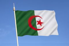 Flag of Algeria - North Africa. The national flag of Algeria was adopted on July 3, 1962. A similar version was used during the Algerian War by the Algerian Stock Image