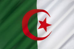 Flag of Algeria - North Africa. The national flag of Algeria was adopted on July 3, 1962. A similar version was used during the Algerian War by the Algerian Stock Photo