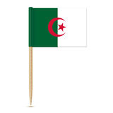 Flag of Algeria toothpick on white background Stock Photos