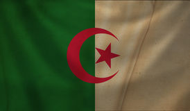 Flag of Algeria. Vintage background with flag of Algeria. Grunge style Royalty Free Stock Photos