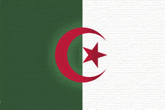 Flag of Algeria Wall. Stock Images