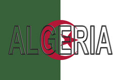 Flag of Algeria Word. Royalty Free Stock Image