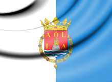 Flag of Alicante, Spain. Stock Image