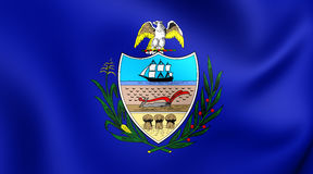 Flag of Allegheny County, Pennsylvania. Stock Photography