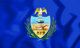 Flag of Allegheny County Pennsylvania, USA. 3D Illustration. Stock Image