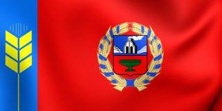 Flag of Altai Krai, Russia. 3D Flag of Altai Krai, Russia. Close Up Stock Images