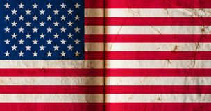 Flag of America with old grunge texture. royalty free illustration