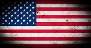Flag of America with old grunge texture. stock illustration