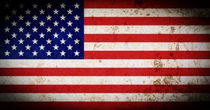 Flag of America with old grunge texture. vector illustration
