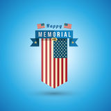 Flag of America to memorial day. royalty free illustration
