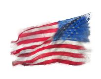 Flag of America watercolor royalty free stock photo