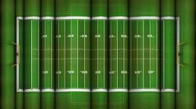 Flag of an American football field – 3D Illustration royalty free illustration