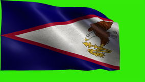 Flag of American Samoa, AS, Pago Pago, State of The United States of America, USA state - LOOP stock video