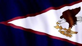 Flag Of American Samoa. National symbol stock video