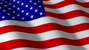 Flag american, seamless loop stock video footage