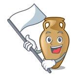 With flag amphora mascot cartoon style. Vector illustration Vector Illustration