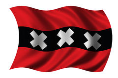 Flag of Amsterdam Royalty Free Stock Images