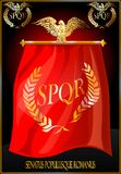 Flag of ancient Rome. Royalty Free Stock Image