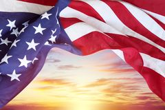 Free Flag And Sky Stock Images - 137960614