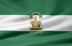 Flag of Andalusia - Spain Stock Photography