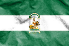 Flag of Andalusia, Spain. Stock Images