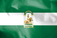 Flag of Andalusia, Spain. Stock Photography