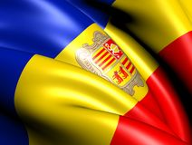 Flag of Andorra Stock Photo