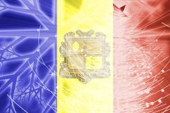 Flag of Andorra christmas holidays Stock Photo