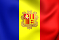 Flag of Andorra Royalty Free Stock Images