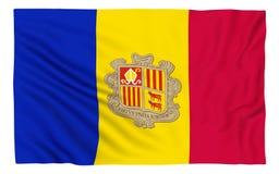 Flag of Andorra. Isolated on white royalty free illustration