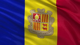 Flag of Andorra seamless loop Stock Photos