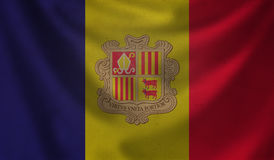 Flag of Andorra. Stock Images