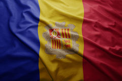 Flag of Andorra Stock Photography