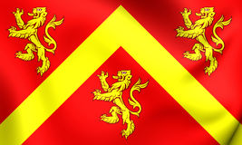 Flag of Anglesey, Wales. Royalty Free Stock Image