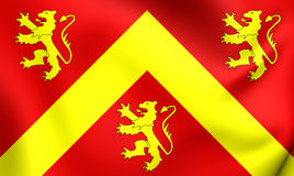 Flag of Anglesey, Wales. Stock Photos