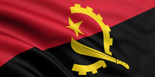 Flag Of Angola Royalty Free Stock Photo