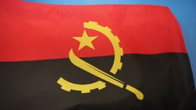 Flag of Angola Royalty Free Stock Photos