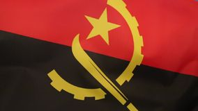 Flag of Angola. The national flag of Angola came into use at independence on November 11 1975 stock illustration