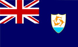 Flag of Anguilla Royalty Free Stock Photos