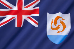 Flag of Anguilla Stock Photography