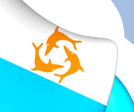 Flag of Anguilla 1967-1969 Royalty Free Stock Image