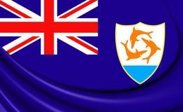 Flag of Anguilla. Stock Photo