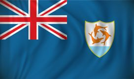 Flag of Anguilla. Vector illustration Royalty Free Stock Images