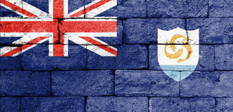 Flag of Anguilla on old brick wall. Stock Photography