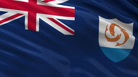 Flag of Anguilla seamless loop Royalty Free Stock Image