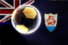 Flag of Anguilla wavy soccer Royalty Free Stock Photography
