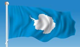 Flag of Antarctica. Vector illustration stock illustration