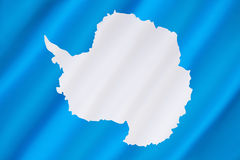 Flag of Antarctica. Antarctica has no official flag as it is not a nation nor is it ruled by a single government. This is the most widly used flag - a plain Stock Photography