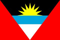 Flag of Antigua And Barbuda Stock Photography